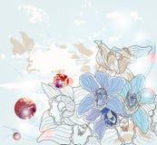 Ramo de las orquídeas de la fantasía libre illustration