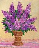 Ramo de lilas púrpuras fragantes stock de ilustración