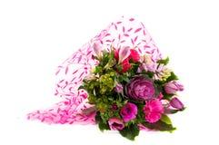 Ramo de lujo de flores rosadas Imágenes de archivo libres de regalías