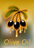 Ramo de oliveira e óleo dourado Imagem de Stock Royalty Free