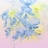 Ramo de orquídeas azules Fotos de archivo libres de regalías