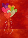 Ramo de papel de la flor del corazón Imagen de archivo