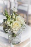 Ramo de rosas blancas Foto de archivo libre de regalías