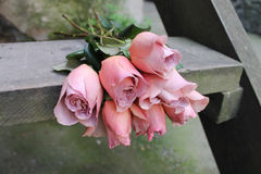 Ramo de rosas Café del Latte del grado Fotografía de archivo libre de regalías