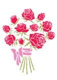Ramo de rosas rojas stock de ilustración