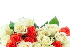 Ramo de rosas rojas y amarillas Foto de archivo