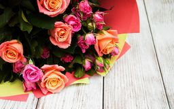 Ramo de rosas rosadas Imagen de archivo