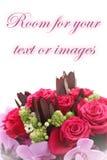 Ramo de rosas y de orquídeas Foto de archivo libre de regalías