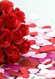 Ramo de rosas y de vanlentine Foto de archivo libre de regalías