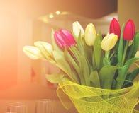 Ramo de tulipanes Imagen de archivo libre de regalías