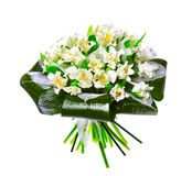 Ramo de tulipanes blancos Foto de archivo