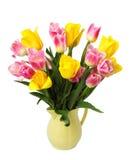 Ramo de tulipanes rosados Foto de archivo libre de regalías