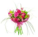 Ramo de tulipanes y de rosas Imagen de archivo