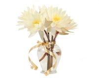 Ramo de waterlilies frescos Imagen de archivo libre de regalías