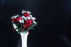 Ramo del corazón de la tarjeta del día de San Valentín Foto de archivo libre de regalías