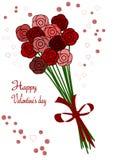 Ramo del día de tarjeta del día de San Valentín Fotografía de archivo libre de regalías