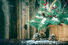 Ramo del invierno para la Navidad Fotos de archivo