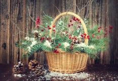Ramo del invierno para la Navidad Imagen de archivo libre de regalías