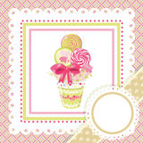Ramo del Lollipop en marco Fotografía de archivo libre de regalías