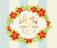 Ramo del vischio di Natale Fotografie Stock Libere da Diritti