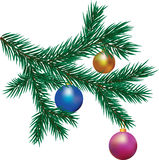 Ramo dell'albero di Natale Fotografie Stock Libere da Diritti