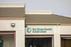 Ramo dell'istituzione di San Diego County Credit Union Financial Fotografia Stock Libera da Diritti