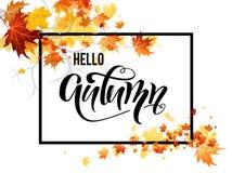 Ramo delle foglie di autunno illustrazione vettoriale