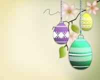 Ramo di albero dell'uovo di Pasqua illustrazione di stock