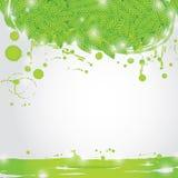 Ramo di estate con le foglie verdi fresche su sfondo naturale Fotografie Stock