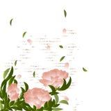 Ramo di fioritura sul fondo di lerciume Immagini Stock Libere da Diritti