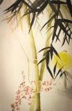 Ramo do bambu e da ameixa de Sun Fotografia de Stock Royalty Free