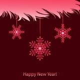 Ramo e fiocco di neve lanuginosi illustrazione di stock