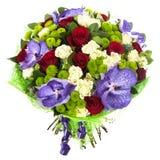 Ramo fresco, enorme de flores coloridas, aislado en el fondo blanco Imagen de archivo libre de regalías