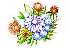 Ramo grande hermoso de wildflowers stock de ilustración