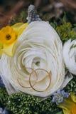 Ramo hermoso de la boda de diversa flor blanca, azul, verde Imagen de archivo libre de regalías
