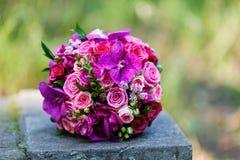 Ramo hermoso de la boda de la novia Foto de archivo