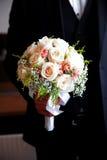 Ramo hermoso de la boda de rosas blancas Imagen de archivo libre de regalías