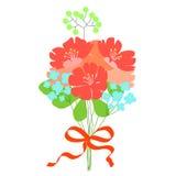 Ramo hermoso de la flor Tarjeta de la invitación o de felicitación de la boda Fotografía de archivo