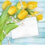 Ramo hermoso de tulipanes EPS 10 Foto de archivo libre de regalías