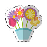 Ramo lindo de icono de la naturaleza de las flores Imagen de archivo