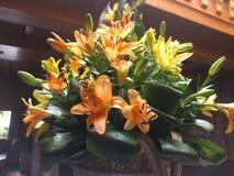 ramo, naranja y amarillo de la flor Foto de archivo