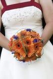 Ramo nupcial de la boda de flores Foto de archivo libre de regalías