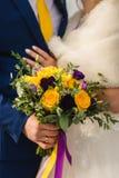 Ramo nupcial en el d?a de boda foto de archivo
