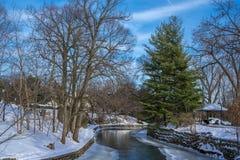 Ramo ocidental do rio de Dupage em Naperville, IL Fotos de Stock Royalty Free