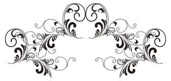 Ramo ornamentado. ilustração do vetor