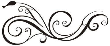 Ramo ornamentado. ilustração royalty free