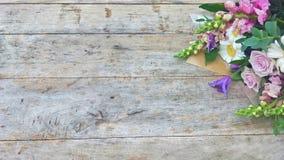 Ramo púrpura de la flor del tono Imagen de archivo