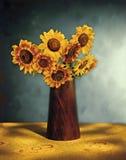 Ramo pintoresco del girasol Imagen de archivo libre de regalías