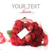 Ramo rojo de las rosas Imágenes de archivo libres de regalías