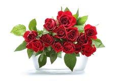 Ramo rojo de las rosas Fotos de archivo libres de regalías
